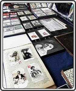 Cartoline d'epoca in fiera Verona.