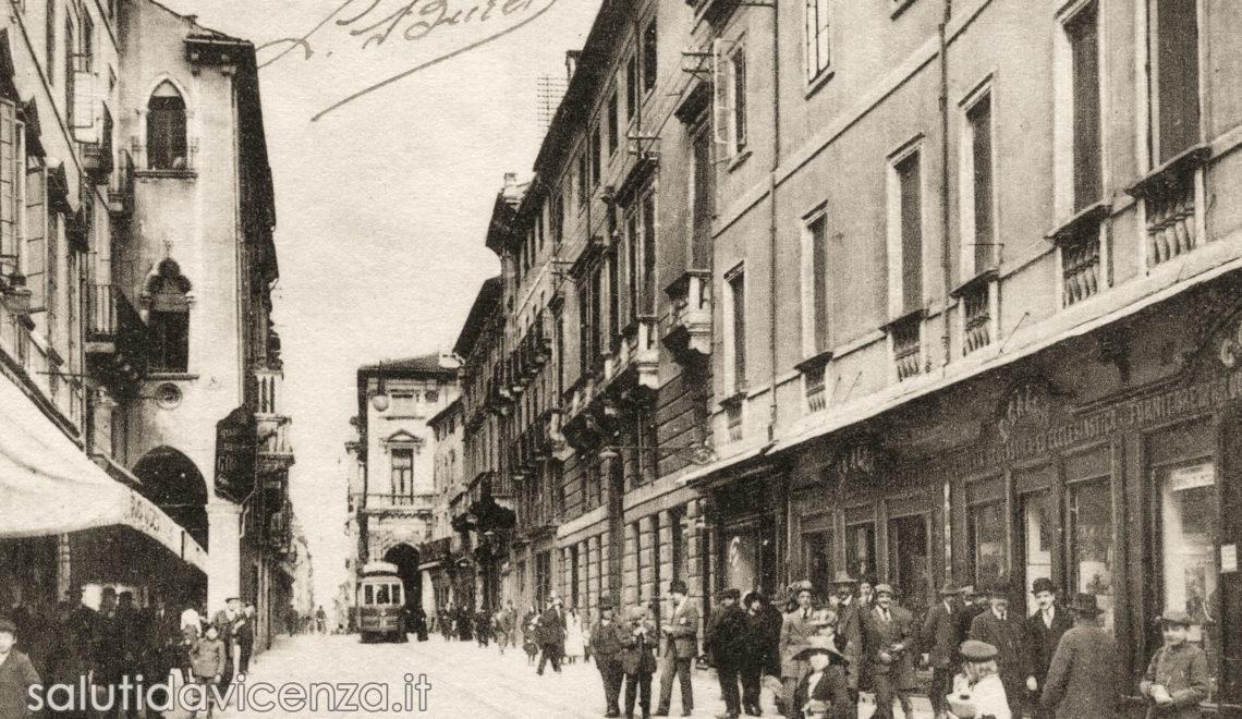 Corso Palladio in cartolina d'epoca di Vicenza