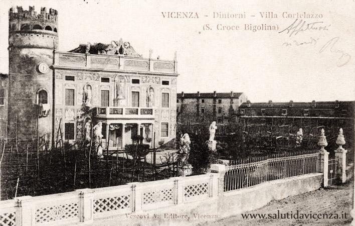 Villa Cortelazzo in cartolina del 1900