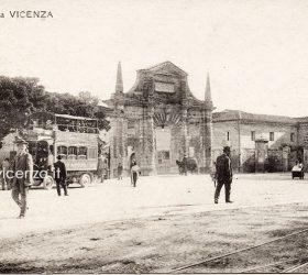 Porta Castello, VIcenza, veduta di Piazzale De Gasperi