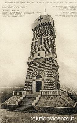 Cartolina del Tempio Ossario del Pasubio, 1928