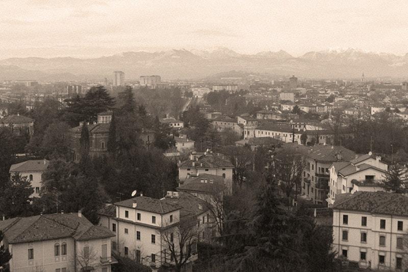 Monte Berico, panorama di Viale Dante