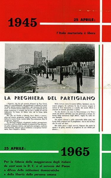 Anniversario della Liberazione - 25 aprile: copertina del giornale uscito nel 1965.