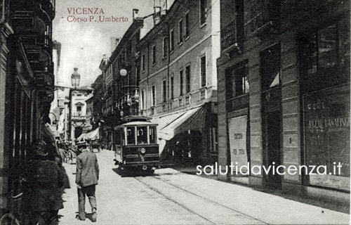Corso Palladio, cartolina postale anni '20