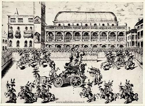 Informazioni e cultura a Vicenza. Cartolina del palio.