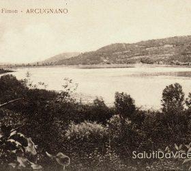 Cartolina d'epoca - Lago di Fimon, 1920.