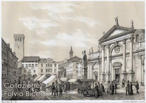Bassano del Grappa in un'antica stampa del calendario Frammenti di storia a Bassano.