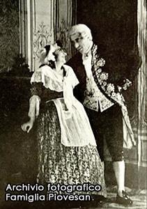 Primo Piovesan con la moglie Ines