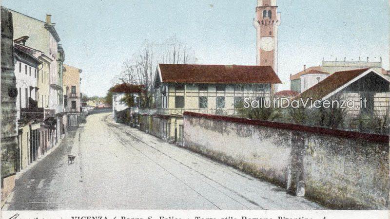 Veduta del corso San Felice nel primo Novecento