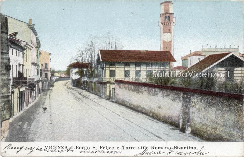 L'antico borgo San Felice in una rara cartolina a colori