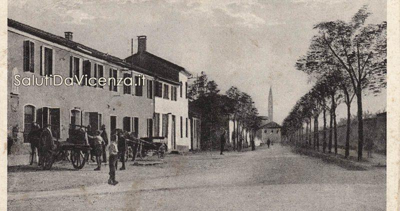 Campiglia dei Berici, Viale Trento nei primi anni del Novecento.