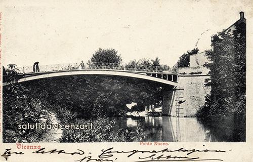 Ponti di Vicenza: cartolina del Ponte Novo.