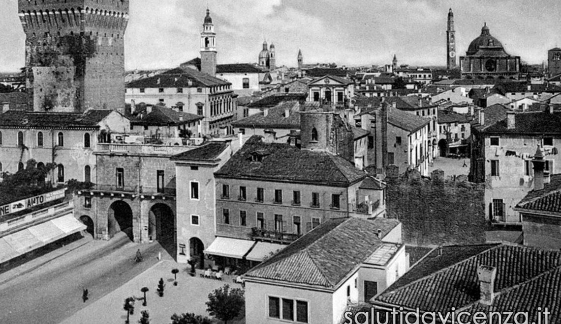 Ingresso al centro storico di Vicenza attraverso Porta Castello