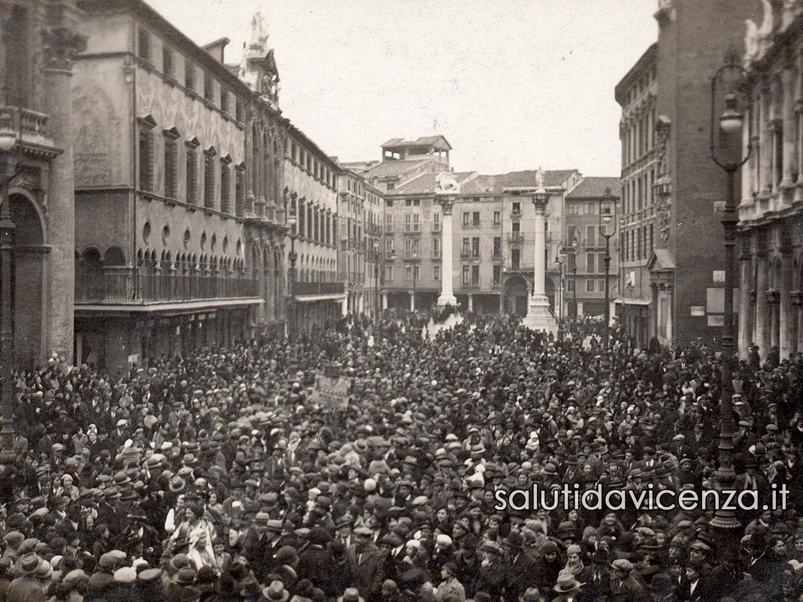 Le piazze del centro storico di Vicenza