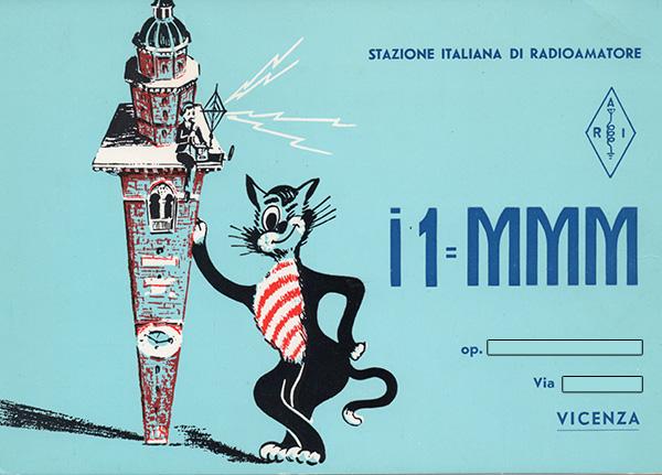 Cartolina Stazione Radioamatore di Vicenza