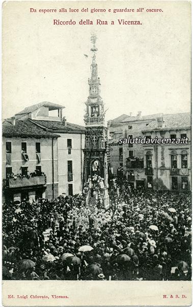 La Rua di Vicenza in una rara immagine di fine Ottocento