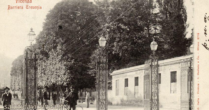 Barriera Eretenia a Vicenza. Cartolina da collezione del primo Novecento