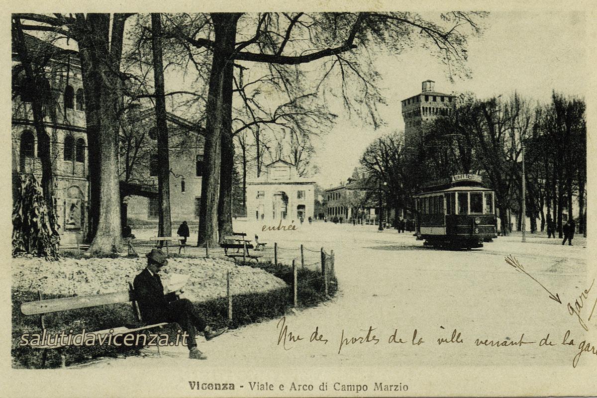 Viale della Stazione e Campo Marzo (1918)