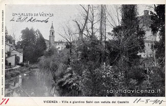 Antica cartolina di Vicenza. Saluti e curiosità.
