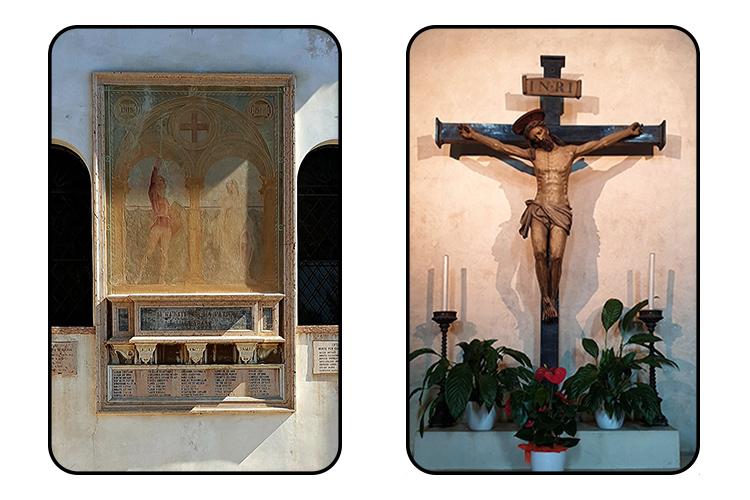 Crocefisso Chiesa San Francesco e Monumento ai Caduti - Calendario Bassano, un bellissimo sogno